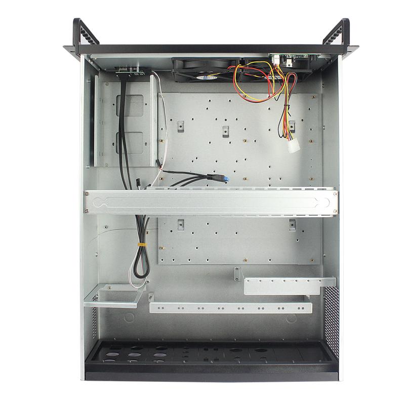 铝合金带屏4U工控机箱 内部带