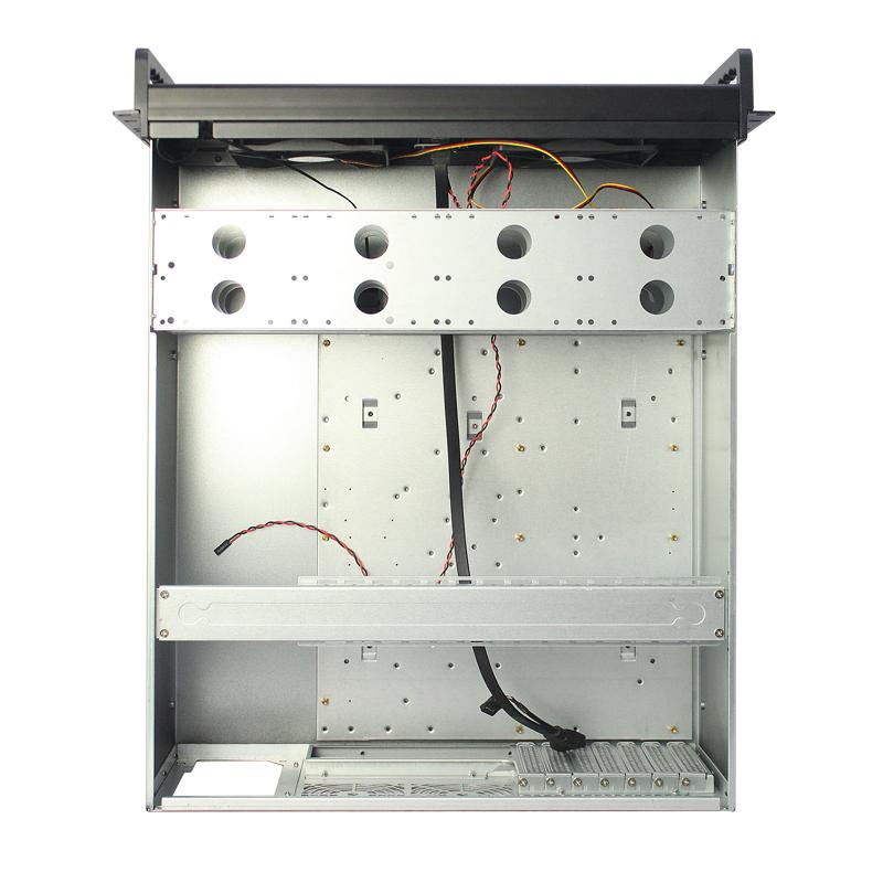 多盘位双开门铝合金面板4u工控